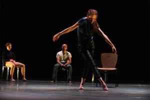 Hola. Perfromance in Studio Varda, Suzanne Dellal Center for Dance and Theater